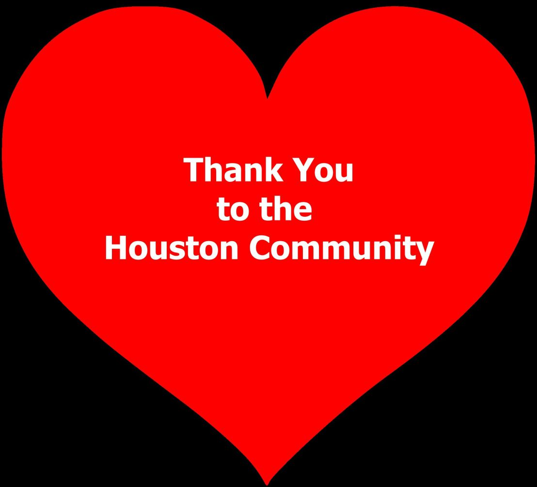 Thank You to the Houston Community